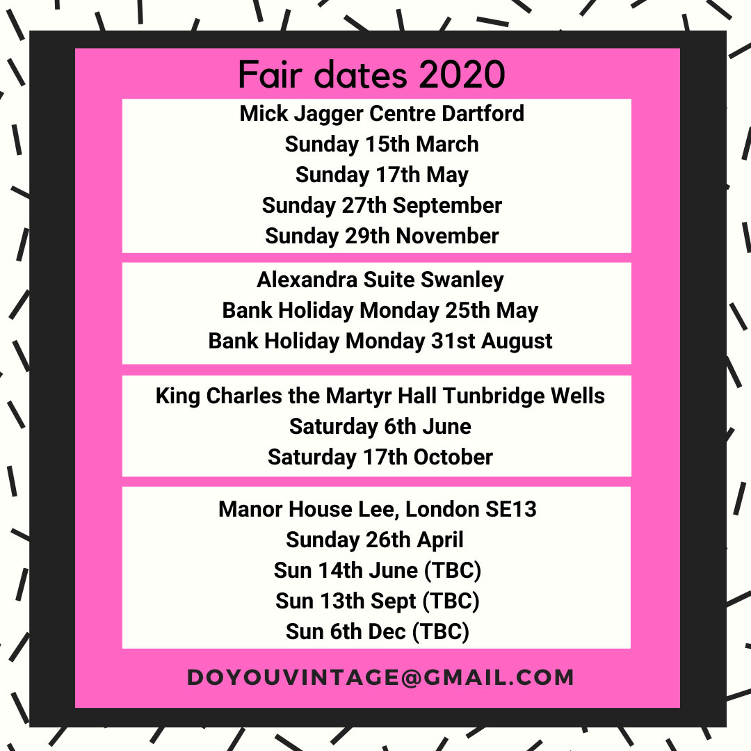 Do You Vintage autumn & winter fair dates 2019